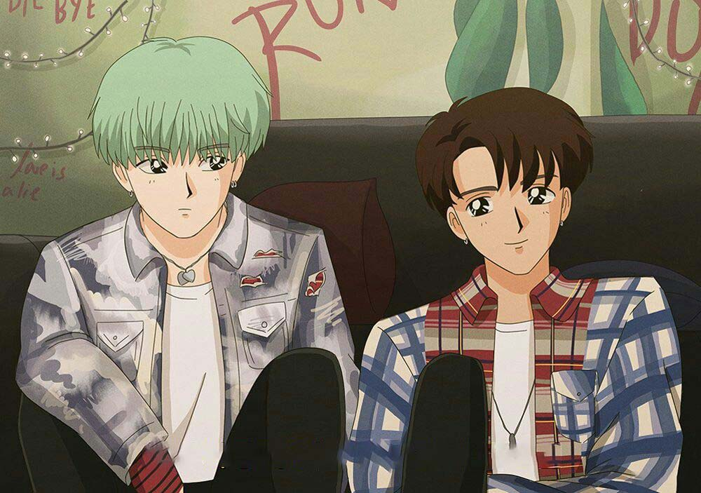 Những ảnh đẹp về bts anime