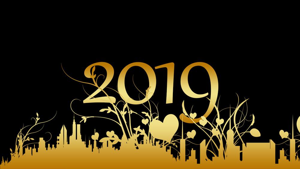 Những ảnh nền chúc mừng năm mới 2019 cực đẹp
