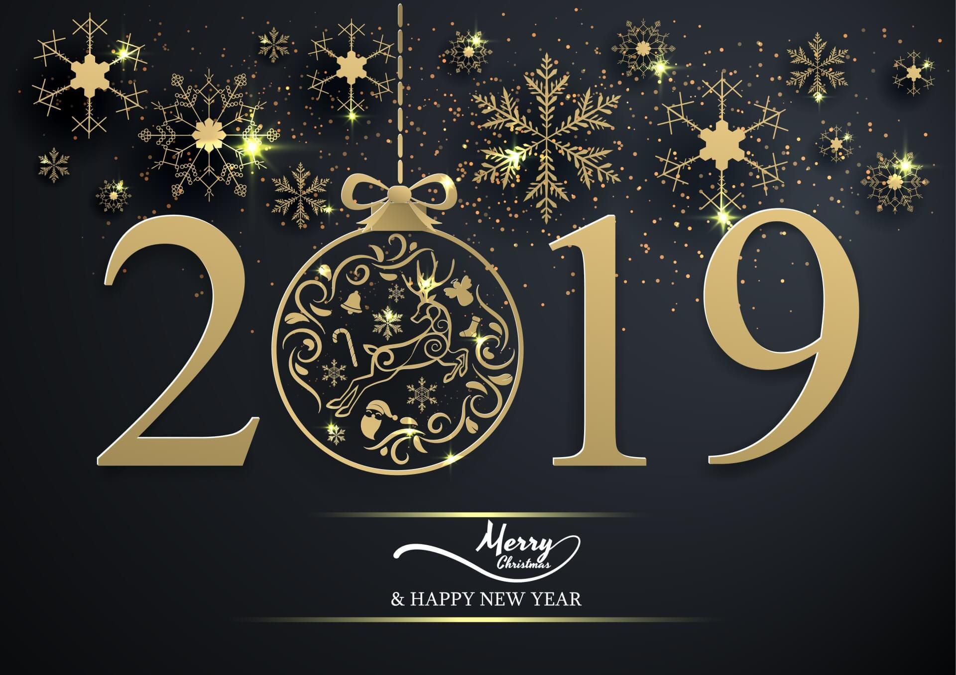 Những ảnh nền chúc mừng năm mới 2019 đẹp nhất