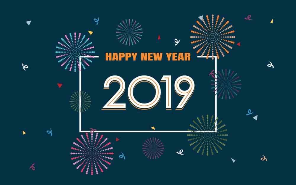 Wallpaper happy new year 2019 desktop