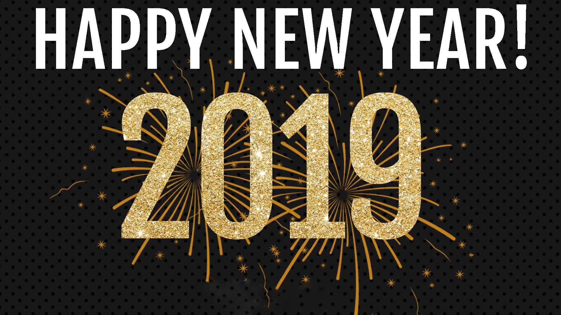 Wallpaper happy new year 2019 full hd
