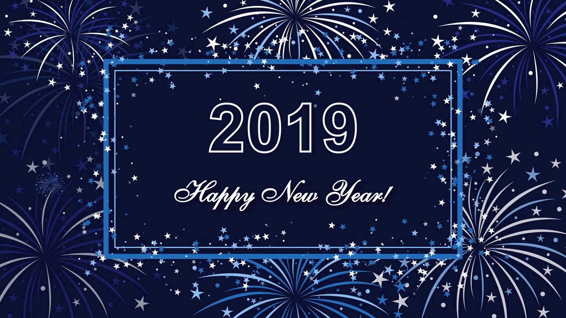 Wallpaper happy new year 2019 pc
