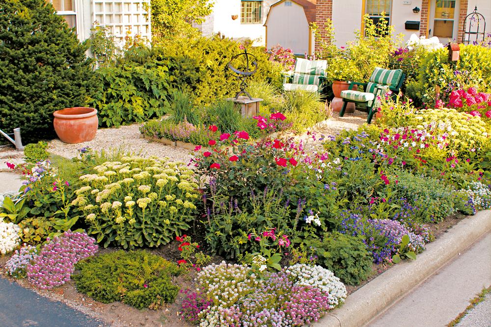 Ảnh vườn hoa nhỏ trước nhà đẹp