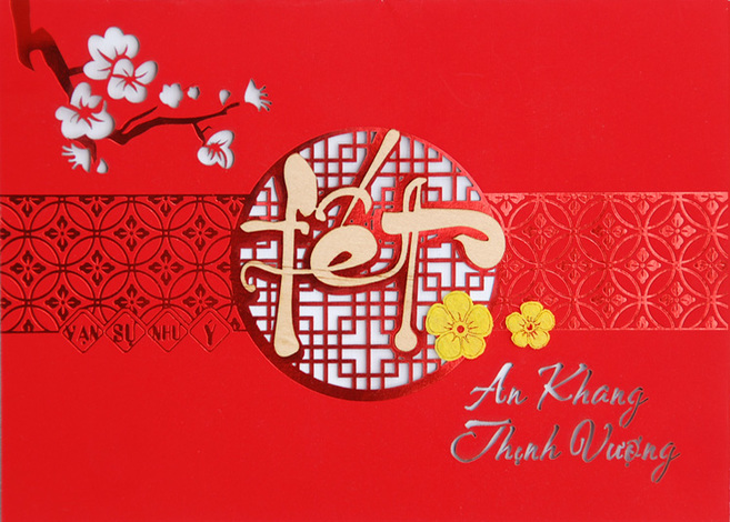 Bìa thiệp mừng năm mới đẹp