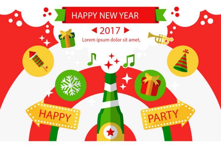 Thiệp chúc mừng năm mới 2017