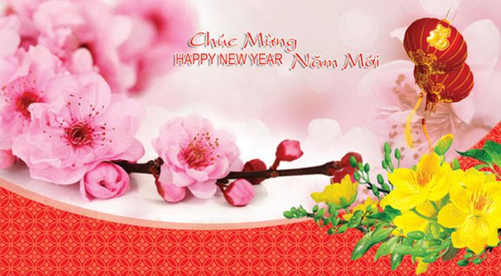 Thiệp mừng năm mới ý nghĩa và đẹp