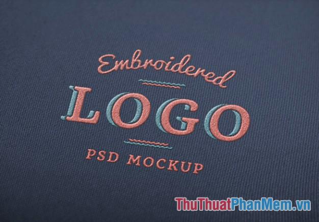 Chữ logo bằng vải