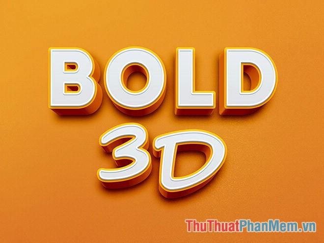 Hiệu ứng chữ 3D dày