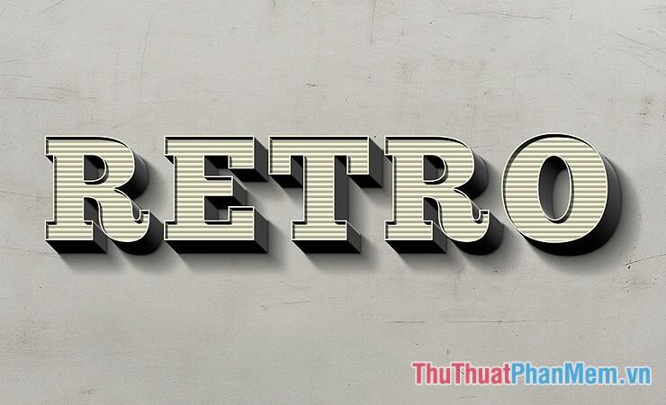 Hiệu ứng chữ RETRO 3