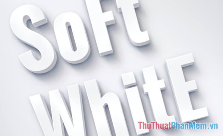Hiệu ứng chữ trắng sữa