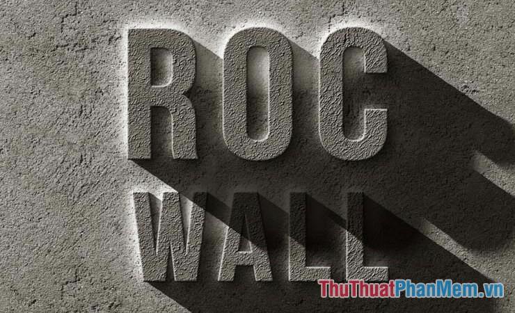 Hiệu ứng chữ trên tường