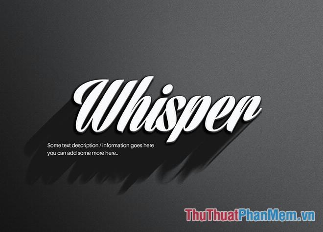 Hiệu ứng chữ Whisper