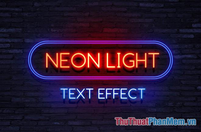 Hiệu ứng đèn Neon