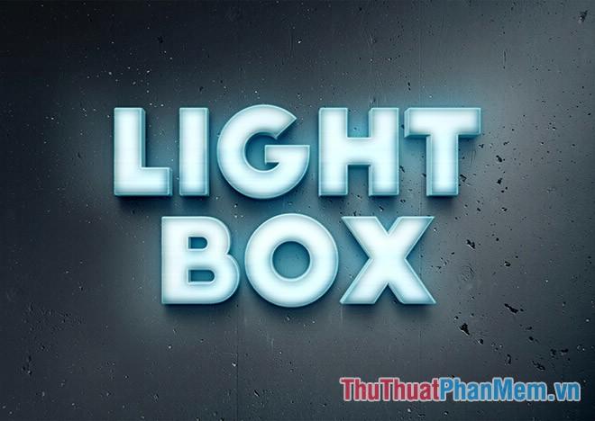 Light Box Text Effect