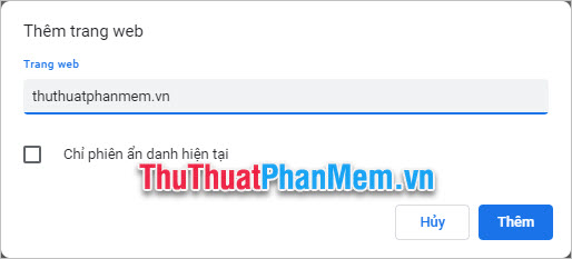 Muốn hiển thị thông báo của một trang web