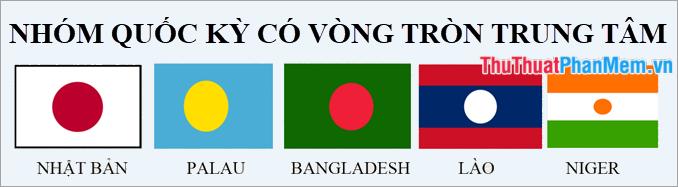 Nhóm các lá cờ có vòng tròn trung tâm