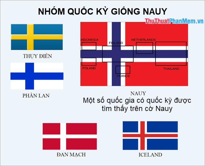 Nhóm các lá cờ giống lá cờ của Nauy