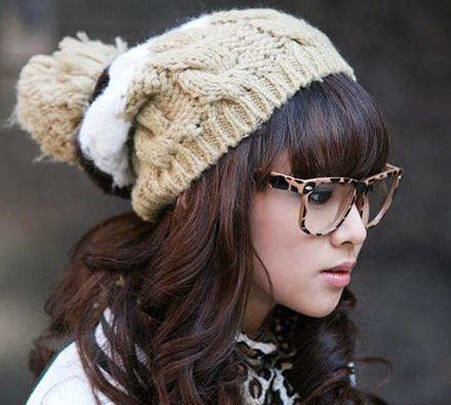 Những kiểu tóc xinh yếu phối hợp với mũ len