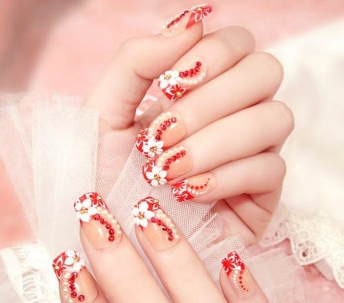 Những mẫu móng tay đẹp cho cô dâu