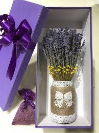 Hộp quà hoa Lavender khô nguyên chất