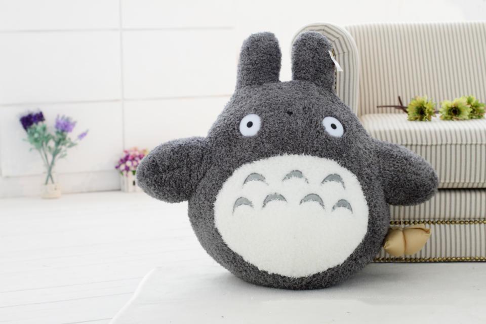 Mèo bông Totoro trái tim xám bụng trắng