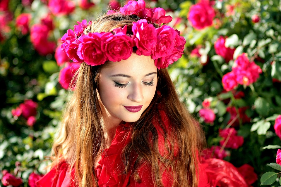 Ảnh gái đẹp và hoa