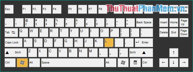 Để khoá màn hình nhấn tổ hợp phím Windows + L