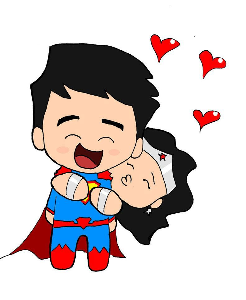 Hình ảnh đáng yêu về superman chibi