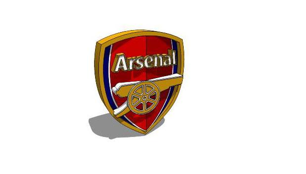 Hình ảnh logo Arsenal 3d