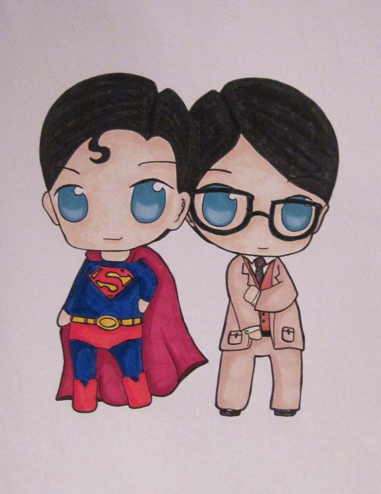 Hình ảnh ngộ nghĩnh về superman chibi