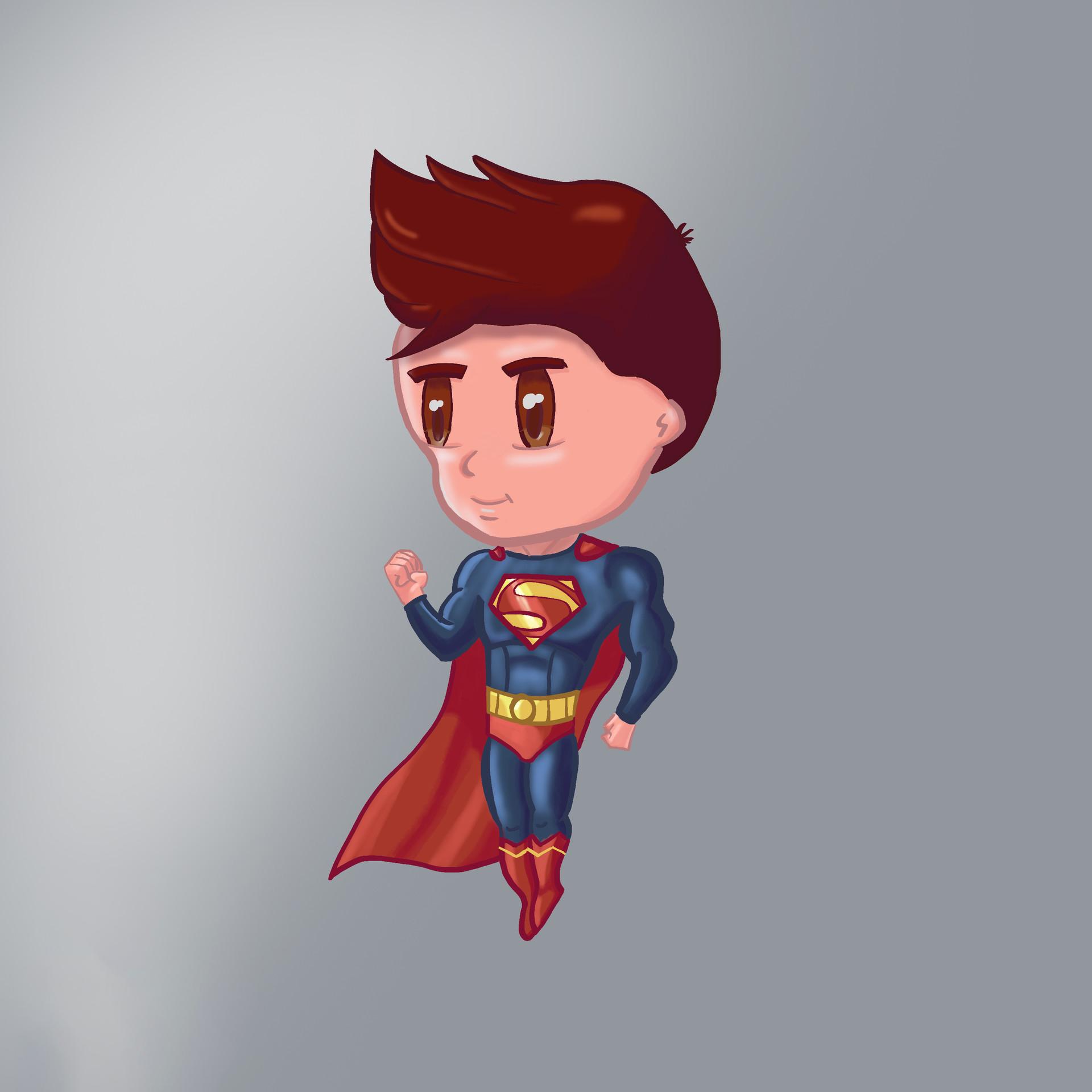 Hình ảnh superman chibi 3d