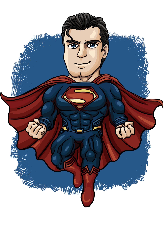 Hình ảnh superman chibi cực đẹp