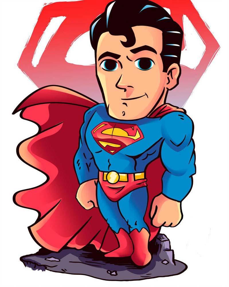 Hình ảnh superman chibi đẹp và đáng yêu