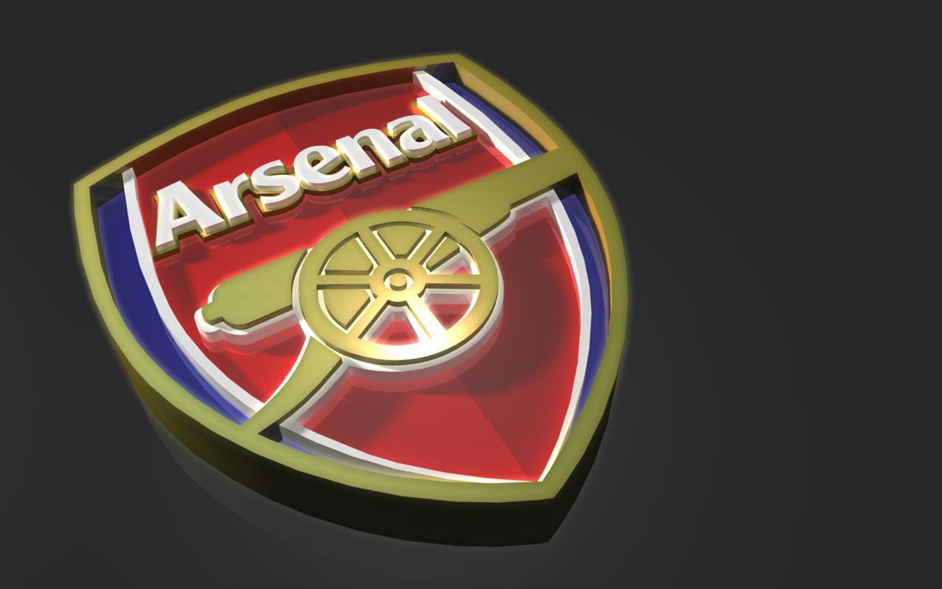 Hình nền logo Arsenal 3d