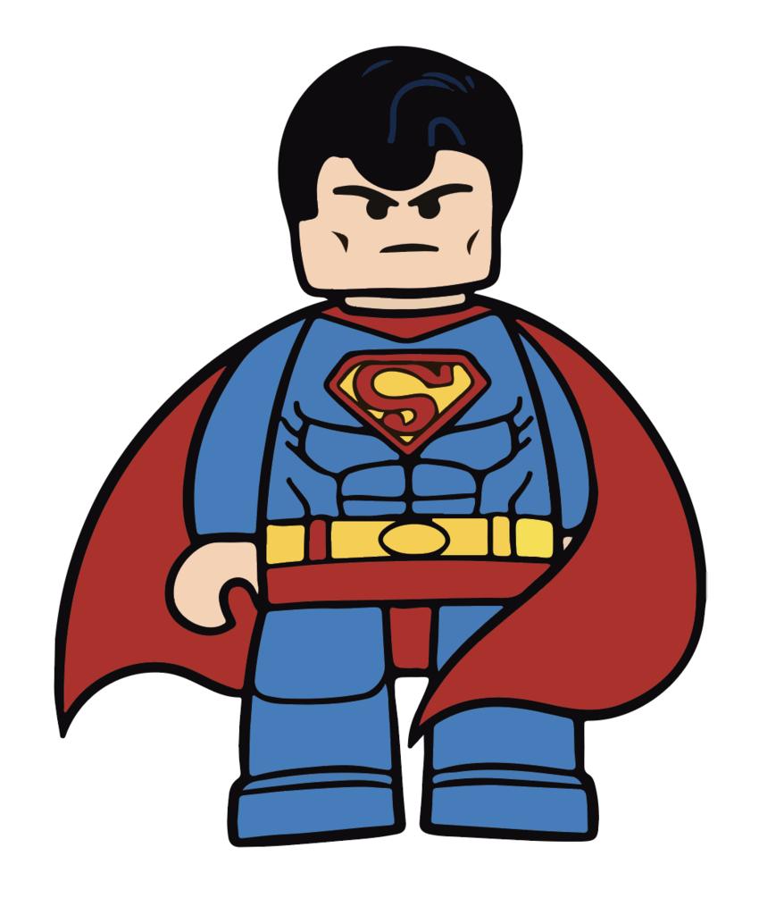 Hình superman chibi lego