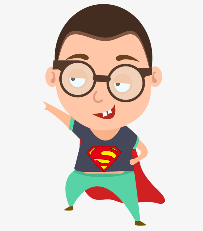 Hình superman chibi ngộ nghĩnh đáng yêu