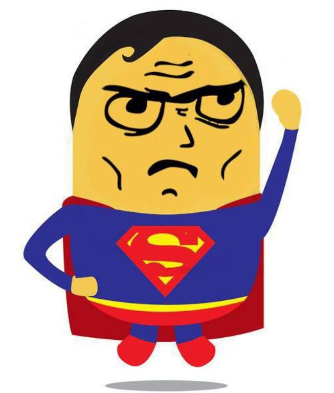 Hình superman chibi ngộ nghĩnh