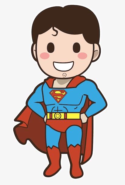 Hình superman dễ thương, đáng yêu