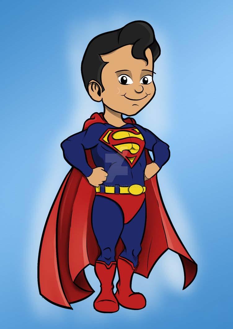 Hình superman hoạt hình dễ thương