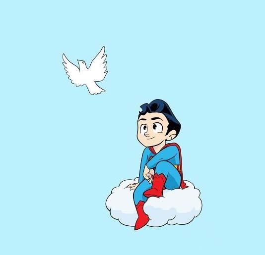 Hình vẽ superman chibi đáng yêu