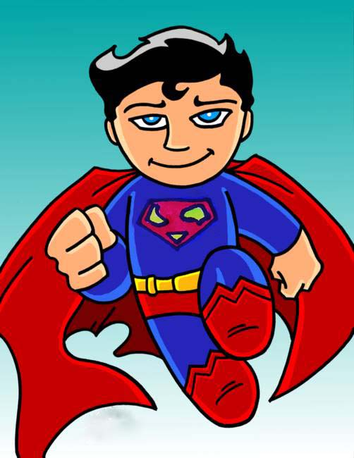Hình vẽ superman chibi đẹp nhất
