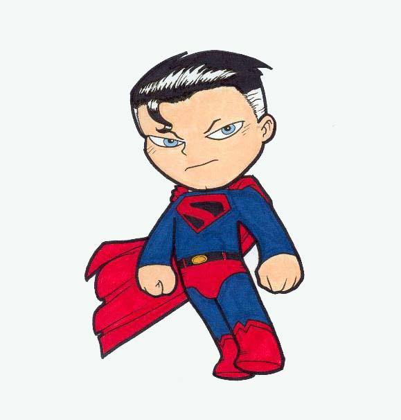 Hình vẽ superman chibi đẹp và độc