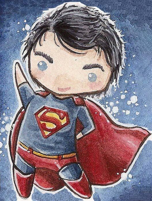 Hình vẽ superman chibi đẹp