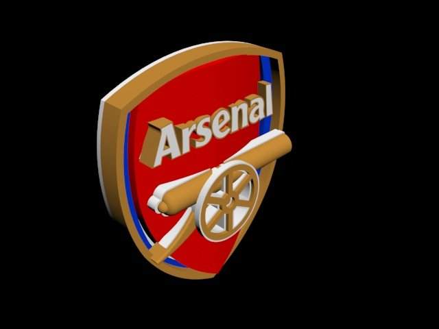 Logo arsenal 3d