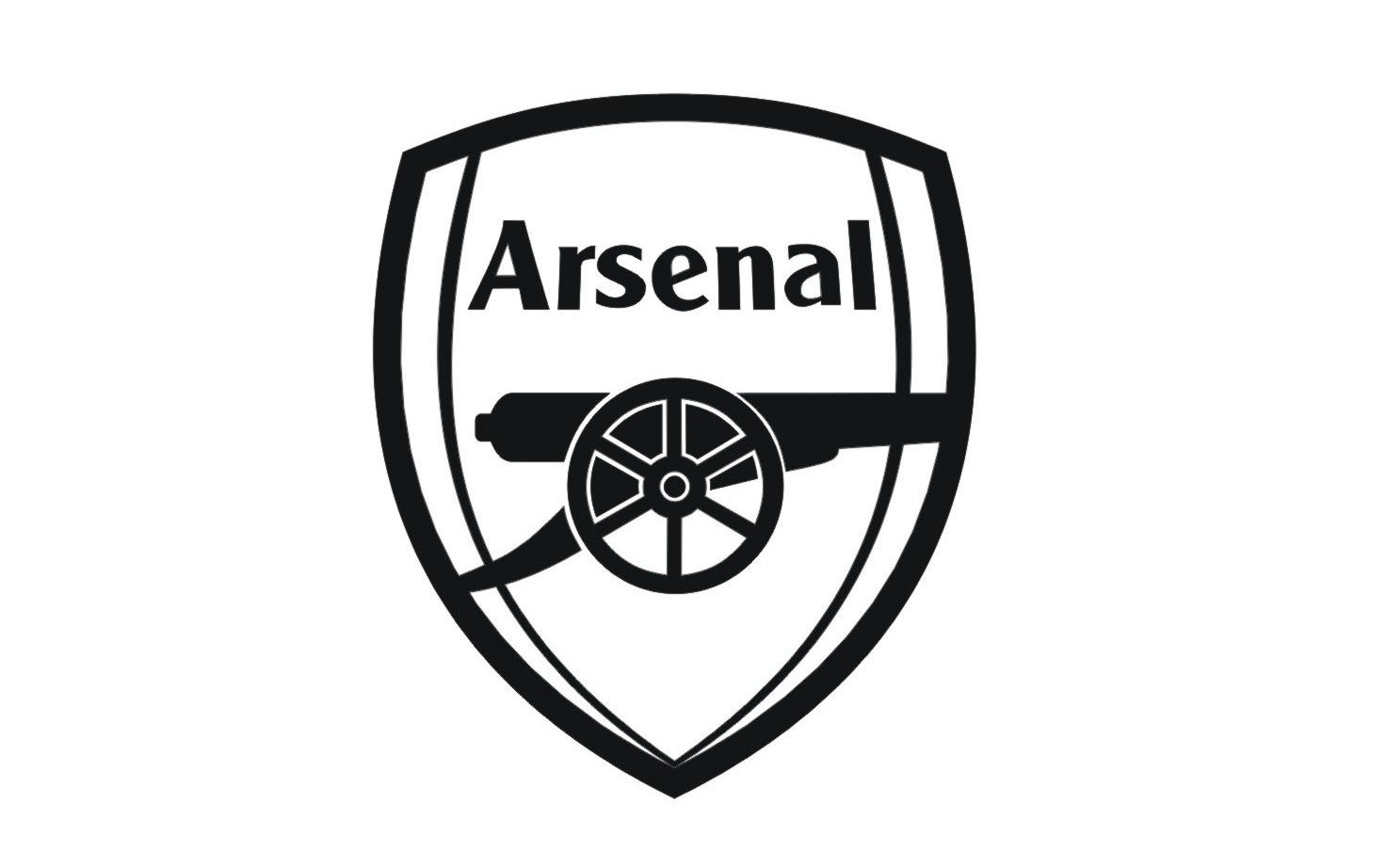 Logo Arsenal đẹp trắng
