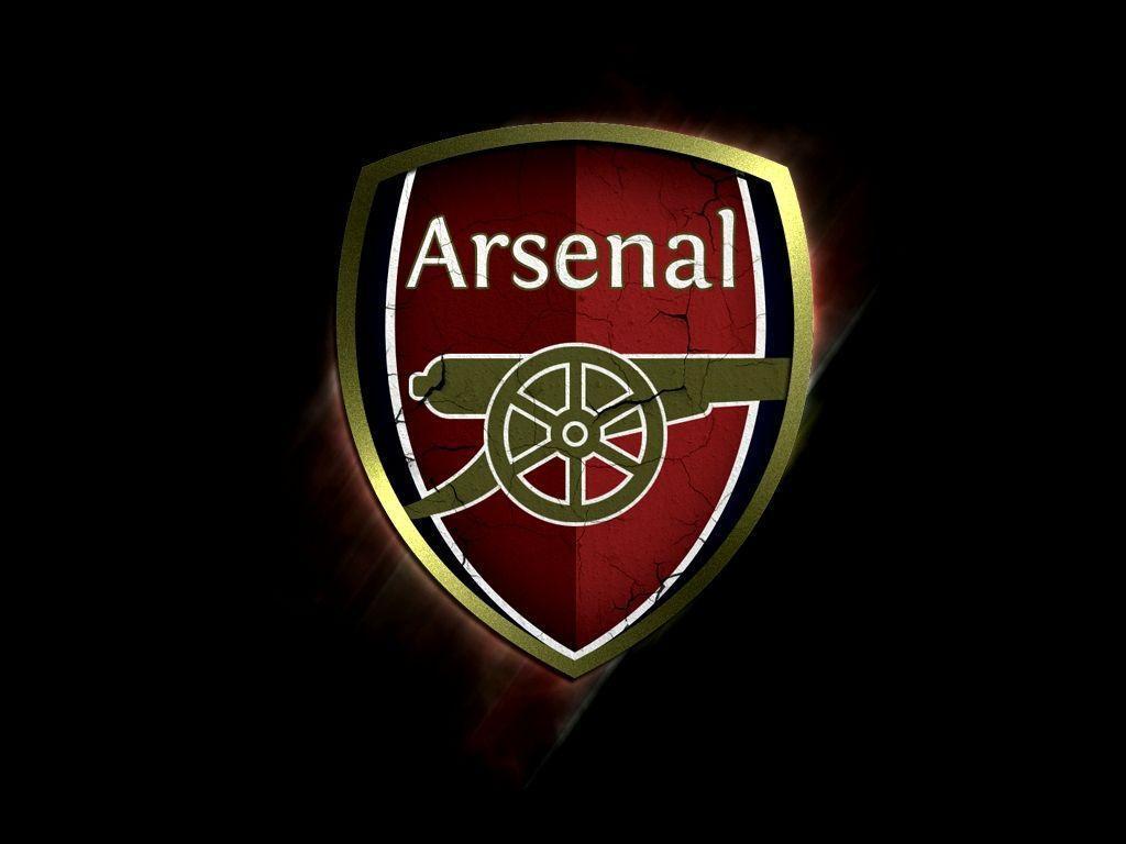 Logo Arsenal nền đen