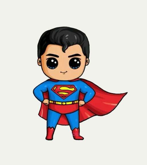 Những hình superman chibi cực đẹp