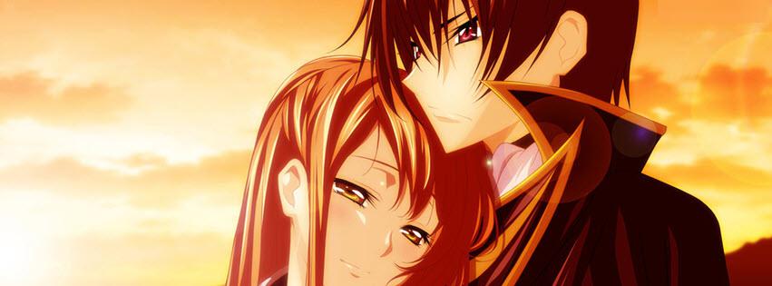 Ảnh bìa facebook anime tình yêu đẹp