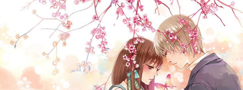 Ảnh bìa facebook anime tình yêu