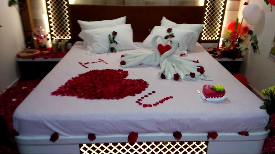 Mẫu trang trí giường cưới đẹp